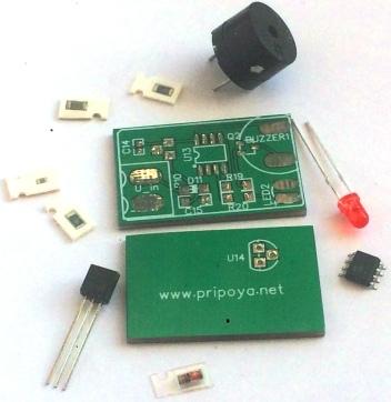 Звуковой и световой сигнализатор на attiny13a.